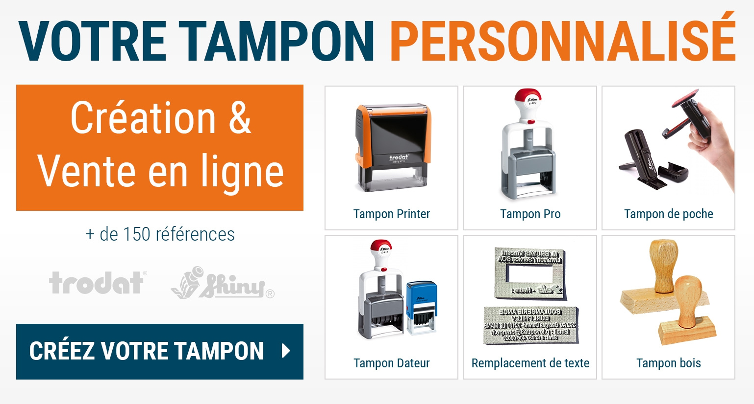 Chanzy tampons tampons personnalis s dateurs encres et - Creer ses tampons encreurs ...