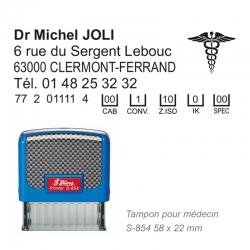 Tampon S-854 Médecin + Caducée