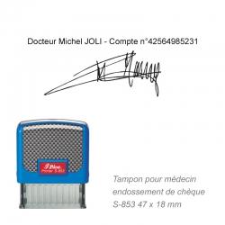 Tampon Médecin S-853 – Endossement de chèque