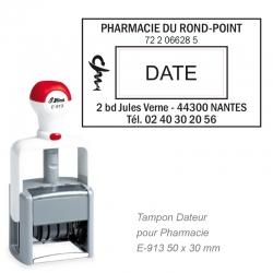 Tampon dateur PRO E-913 pour Pharmacie