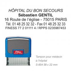 Tampon S-854 Hôpital / Médecin