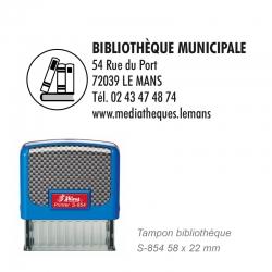 Tampon S-854 Bibliothèque / Livre