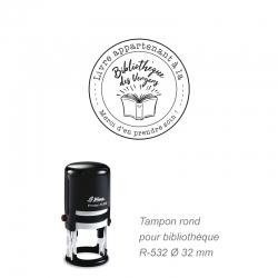 Tampon rond R-532 - Marquage livre avec logo