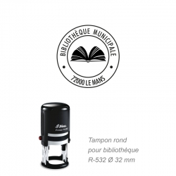 Tampon rond R-532 - Marquage livre