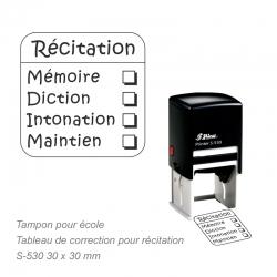 Tampon Grille d'évaluation Poésie / Récitation
