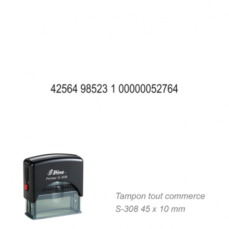 Tampon N° de compte / IBAN - Tous commerces