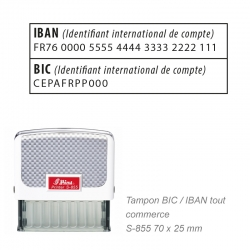 Tampon IBAN / BIC - Tous commerces