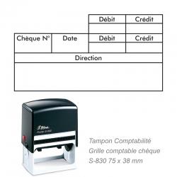 Tampon Comptabilité – Grille comptable chèque