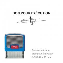 Tampon Bon pour exécution avec signature