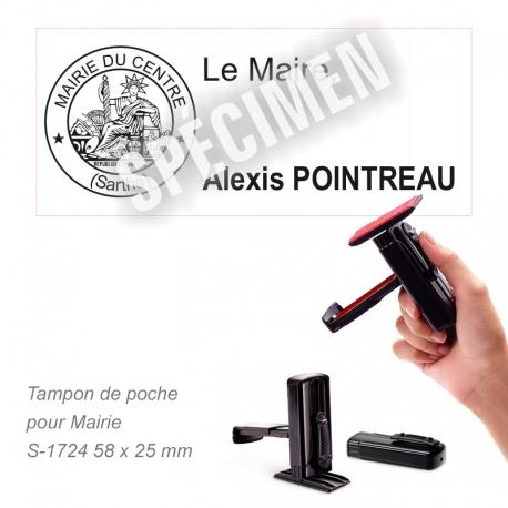 Tampon de poche Marianne pour Maire et Mairie