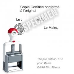 Tampon dateur PRO Mairie « Certifié conforme à l'original »