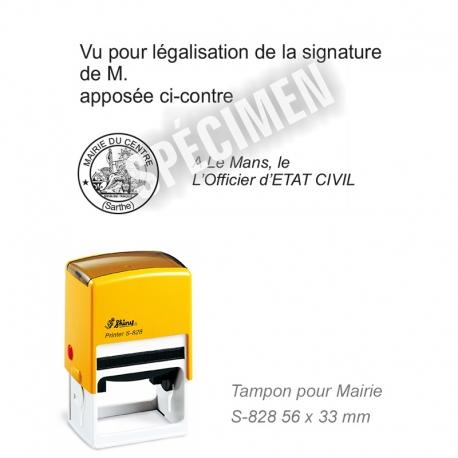 Tampon Mairie « Vu pour légalisation de la signature »