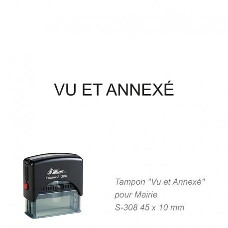 Tampon Mairie « Vu et Annexé »
