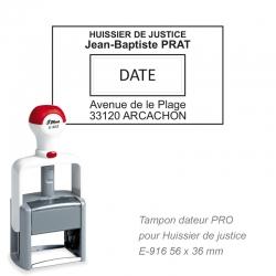 Tampon dateur PRO pour Huissier de justice