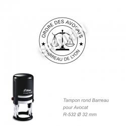 Tampon Avocat - Sceau Ordre des avocats / Barreau