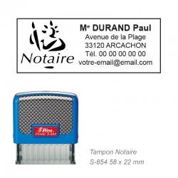 Tampon Notaire – Logo + Coordonnées complètes