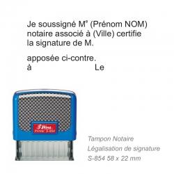 Tampon Notaire - Légalisation de signature