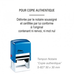 Tampon Notaire « Pour copie authentique »