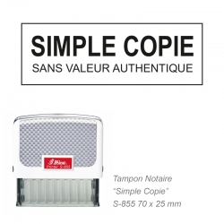Tampon Notaire « Simple copie »