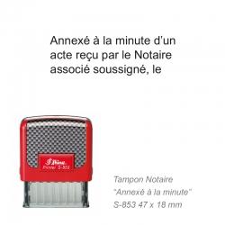 Tampon Notaire « Annexé à la minute… »
