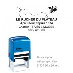 Tampon Apiculteur - Logo + Coordonnées