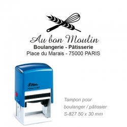 Tampon Boulanger - Logo + Coordonnées