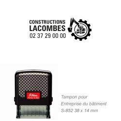 Tampon BTP / Chantier pour entreprise du bâtiment