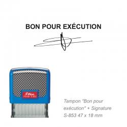 Tampon « Bon pour exécution » avec signature