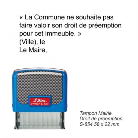 Tampon Mairie « Droit de préemption »