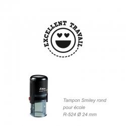 Tampon école - Smiley - Excellent travail