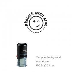 Tampon école - Smiley - Réalisé avec aide