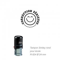 Tampon école - Smiley - Correction sérieuse