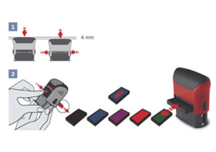 Remplacer l'encreur d'un tampon printer
